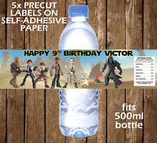 STAR WARS PERSONALISED WATER BOTTLE LABEL PARTY FAVOUR DECORATION GIFT THE FORCE