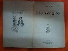 LIBRO P. BOURGET - MENZOGNE - ADRIANO SALANI EDITORE 1898