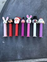 7 Vintage PEZ Dispensers with Feet Santa, Snowman, bunny and More!