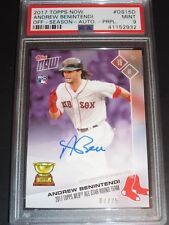2017 TOPPS NOW ANDREW BENINTENDI AUTO #D/25 RC SIGNED ALL-STAR RC TEAM PSA 9
