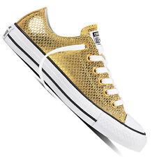 Converse Chuck Taylor All Star OX  Damen-Sneaker Turnschuhe Metallic Gold Chucks