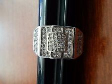 STERLING SILVER .925 CUBIC ZIRCONIA MEN'S RING SIZE 10 STAMPED ABR