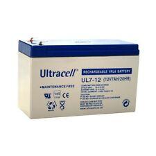 Ultracell UL7-12 : Batterie au plomb étanche 12V 7AH : 151x65x99mm (7000mAh)