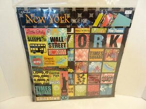 NEW YORK CITY Scrapbook Page Kit NEW Taxi Cab Stickers Paper Studio