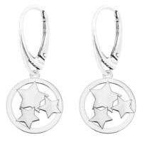 Pendant, Necklace Choice, Leverback Earrings 925 Sterling Silver Snowflake Set