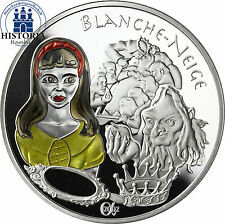 France 1,5 euro argent pièce de monnaie 2002 Contes série: BLANCHE NEIGE en couleur