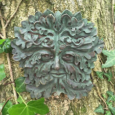 Verde Gothic Greenman Garden targa sul muro Outdoor celtica pagane decorativo 09004