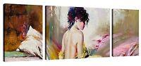 Quadri Moderni Cm 208x70 Stampa su Tela 3 Pz Arredamento Arredo Arte Casa