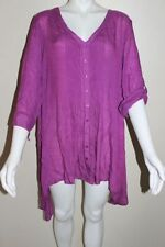 3/4 Sleeve Casual Button Down Shirts for Women