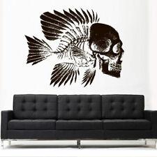 Wall Decal Vinyl Sticker Skull Fish Ocean Sea Tattoo Zombi Bedroom Gift (Z3123)