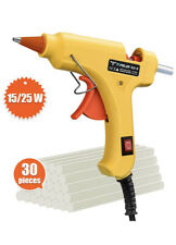 Hot Glue Gun, TopElek 15W/25W Dual Power Mini Glue Gun with Sticks(30pcs