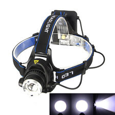 Adjustable 2500LM CREE XM-L T6 LED Rechargeable Headlamp Headlight Head Torch AA