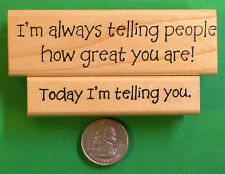 Encouraging Words - Set of 2 wood mounted rubber stamps