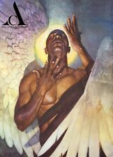 Thomas Blackshear II Black Angel Awakening Canvas Artist Proof 16 by 23in Signed