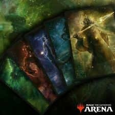 MTG ALL 5 Secret Lair Theros Stargazing Bundle Code Magic Arena Sleeves IN HAND