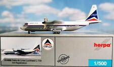 Herpa Wings 1:500 514859 Delta Air Lines Lockheed L-100-20