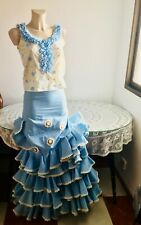 "Bust: 34"" / 87cm Skirt Dress Vintage Flamenco Riding Gypsy Frida Sevilla"