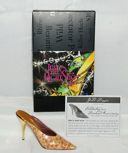Just The Right Shoe by Raine Shoe Miniatures-Gold Digger NIB