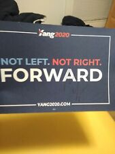Andrew Yang 2020 Presidential Candidate signed official campaign Placard