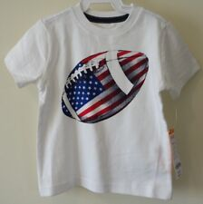 New Gymboree July 4th Football Shirt Boy's Size 18-24 Month