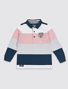 Boys rugby shirt top M & S baby 3 6 9 12 18 months 2 3 4 5 6 7 years RRP £10- 16