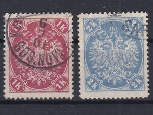 B&H 1900 Geprüfte Stücke der ANK 21+22 Y sauber Gestempelt € 75,-- ANSEHEN