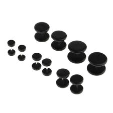 10Pcs Stud Earrings Ear Plug Cheat Fake Stretch Tunnel Expanders Round 16G