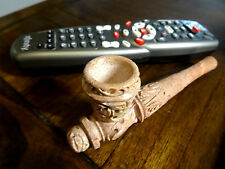 """6""""   Large Carved Stone Tobacco Pipe, Bowl Detach . + 5 screens  No Glass  #S30"""