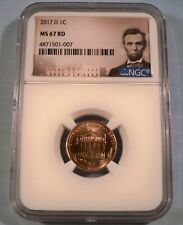 2017-D 1c NGC MS67RD LINCOLN CENT MS 67 RD RED