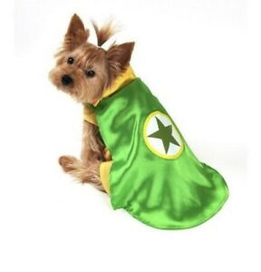 Green Superhero Dog Costume LargeHalloween with attached yellow tank top