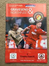 Gravesend & Northfleet v Crawley Town - Nationwide Conference  2005/06 Programme