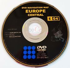 Toyota Lexus Navigation ORIGINAL DVD E04 2011-2012 Zentral Europa Central Europe