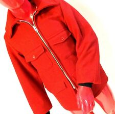 Melton Outer Wear Jacket Unisex Size S Small Lined Wool Outdoors Hunting Vintage
