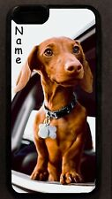 Personalized red DACHSHUND puppy dog CELL PHONE CASE cel phone cover for mobile