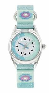 Tikkers Aqua Green Time Teacher Nylon Strap Watch - NTK0014