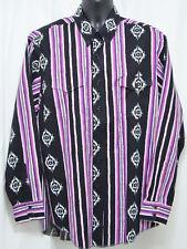 "Wrangler Cowboy Cut Regular Fit X-Long Tails Large 25"" Chest Western Aztec Shirt"