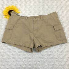 Abercrombie Girls Casual Short Shorts Size 16 100% Cotton Beige Khaki