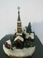 Thomas Kinkade Miniature Sculpture Sunday Evening Sleigh Ride 1999  - IOB