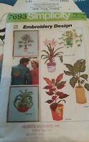 Vintage Simplicity Pattern 7693 Transfer Pattern for Embroidery Plants and Ferns