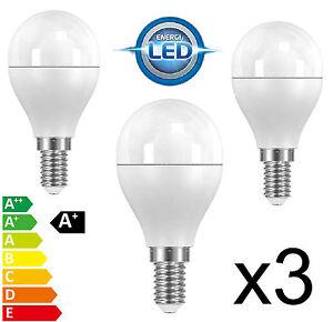 3 LED Energy Saving Light Bulb 4.6w=25w/40w Small Edison Screw Cap SES E14 S8225