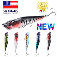 NEW 3 1/2 inch Topwater Popper High Splash Fishing Lures For Bass Snakehead USA