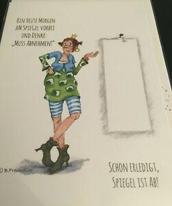 Grußkarte Doppelkarte Umschlag flotte Sprüche Cartoon Wünsche Vorsätze Mädels