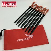8 Pcs 18cm Aluminum Alloy Outdoor Camping Trip Tent Peg Ground Nail Stakes Tri