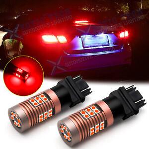 3157 3157K LED Brake Tail Stop Rear Turn Signal Blinker Light Bulb Lamp Pure Red