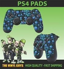PS4 PLAYSTATION 4 CONTROLLER PAD STICKER PSYCHEDELIC WEED LEAF RASTA SKINS X 2