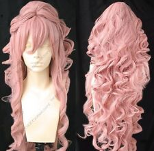 Dark Pink Cosplay Long Clip On Ponytails Long Wig Wigs