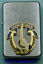 7TH CAVALRY GARRY OWEN WIND PROOF PREMIUM LIGHTER IN A GIFT BOX  ARMY  SBC067