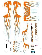 John Raines - Heli-Hemi Reverse Color Dodge Dart 1/32nd Scale Slot Car Decals