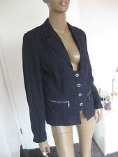 Bonita wunderschöne Jacke Gr. 42/40 dunkelblau mit Nadelstreifen