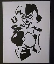 "Harley Quinn Joker Batman 8.5"" x 11"" Custom Stencil FAST FREE SHIPPING"